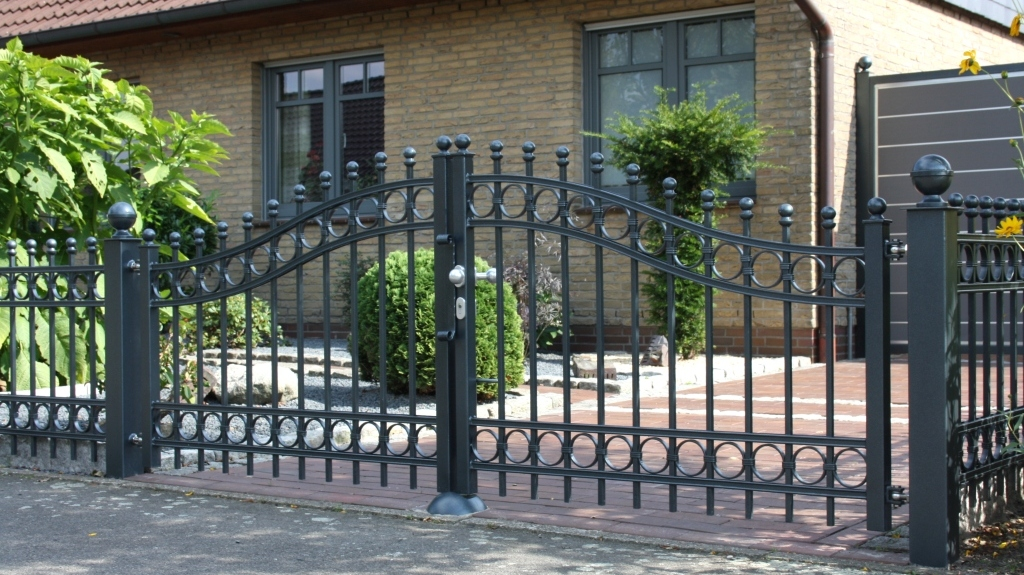 Wrought iron gate amoy ironart fence